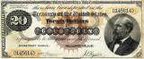 20 dolari 1882 Reproducere Bancnota USD , Dimensiune reala 1:1