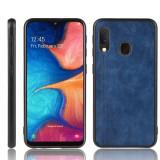 Cumpara ieftin Husa silicon model piele Samsung A20e - Albastru