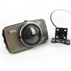 Camera auto DVR Xblitz Dual Core, Full HD, unghi de filmare 170 de grade, dubla, senzor G