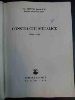 Constructii Metalice - Victor Popescu ,542166 foto