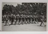 DEFILAREA REGIMENTULUI DE GARDA ' MIHAI VITEAZUL ' LA SARBATOAREA DE 10 MAI 1932 , FOTOGRAFIE TIP CARTE POSTALA , MONOCROMA, NECIRCULATA , DATATA 8 NO