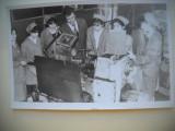 HOPCT 344 H ELEVELE IN ATELIERUL STRUNGARIE LICEU 1987 -FOTOGRAFIE VECHE TIP CP