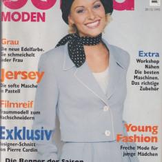 Burda revista  moda insert  limba Romana  49 tipare netaiate 1/1996  (croitorie)