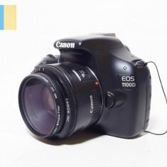 Canon EOS 1100D cu obiectiv Canon LensEF 50mm f/1.8 II [PR]