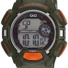 Ceas Q&Q barbatesc cod M132J002Y (nou, original, cu factura), Sport, Quartz, Plastic