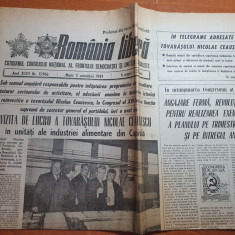 romania libera 3 octombrie 1989-articol mina deva,ceausescu vizita prin capitala