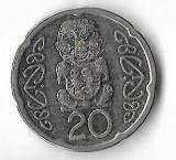 Moneda 20 cents 2008 - Noua Zeelanda