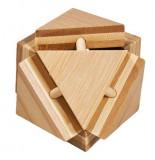 Cumpara ieftin Joc logic IQ din lemn bambus Triangleblock