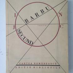 Joc secund/Ion Barbu/versuri/editie bibliofila/Ed. Cartea romaneasca/1986