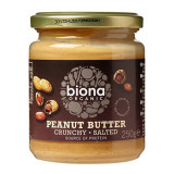 Cumpara ieftin Unt de arahide crunchy cu sare, Biona, bio, 250g
