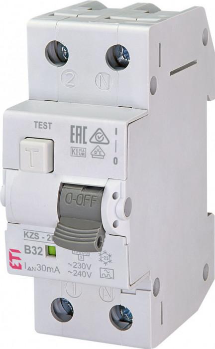 Siguranta diferentiala KZS-2M2p tip A, curba B32/30mA ETI