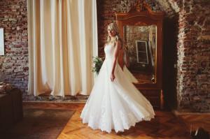 Rochie de Mireasa Stil Printesa, A-line, Designer Natalia Vasiliev, XS