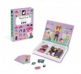 Carte magnetica Janod - Hainute pentru fetite
