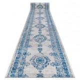Traversa Vintage 22206063 Rozetă albastru și gri, 80 cm