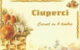 România, LP 1616c/2003, Ciuperci, triptic în carnet
