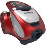 Aspirator fara sac Xarion Pro XP81_XP25011, Multi Cyclonic, 1.5 l, perie Carpet Optimax, parchet, Mini Turbo, rosu metalic, Hoover