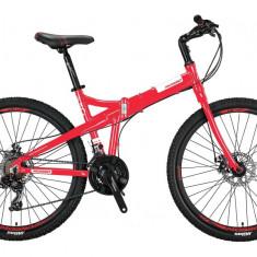"Bicicleta Mosso Marine 2D pliabila, Aluminiu , Roata 26"" , Culoare RosuPB Cod:M01MSO2600517003"