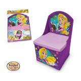 Scaun pliabil cu spatar si spatiu depozitare Rapunzel SunCity
