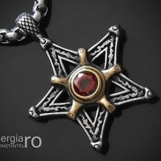 Amuleta, Talisman, Pandantiv Pentagrama sau Pentaclu INOX - cod PND216