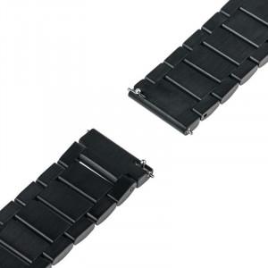 Curea ceas Smartwatch Samsung Gear S3, iUni 22 mm Otel Inoxidabil, Black