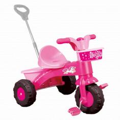 Prima mea tricicleta roz cu maner - Unicorn PlayLearn Toys, DOLU