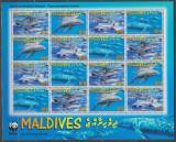 Cumpara ieftin DB1 Fauna WWF Maldive Delfini MS MNH