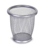Suport pentru pixuri, metalic, argintiu, 10.5x10 cm