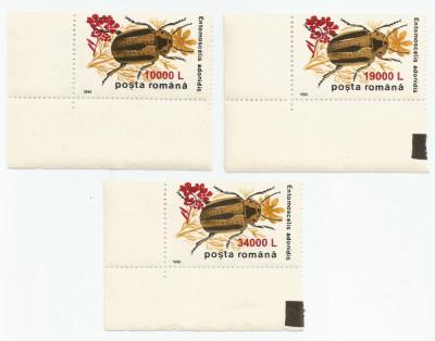 """*România, LP 1516/2000, Insecte II 1996 - supratipar """"floare de muştar"""", MNH foto"""