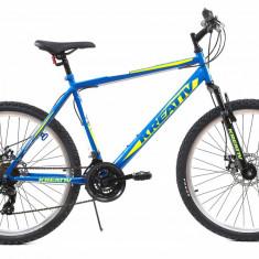 Bicicleta Mtb Kreativ 2605 Albastru Galben M 26 inch, Discuri
