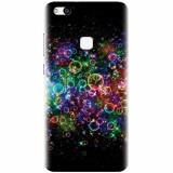 Husa silicon pentru Huawei P10 Lite, Rainbow Colored Soap Bubbles