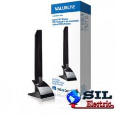 Antena Valueline DVB-T de interior, design minimalist, 15 dB