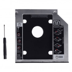 Adaptor HDD Caddy OEM pentru HDD/SSD unitati optice 9.5 mm