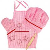 Set sortulet si accesorii roz.