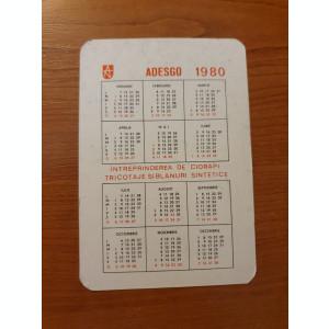 calendar de buzunar din anul 1980
