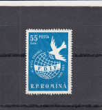 ROMANIA 1958 LP 455 CONGRESUL FEMEILOR VIENA MNH, Nestampilat