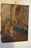Icoana chirilica NASTEREA DOMNULUI / Icoana Veche Pictata Pe Lemn Anii 1870