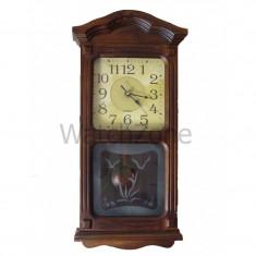 Ceas perete cu pendula din lemn TX-505M