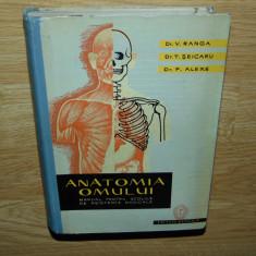 ANATOMIA OMULUI-MANUAL PTR.SCOLILE DE ASISTENTE-V.RANGA ANUL 1961