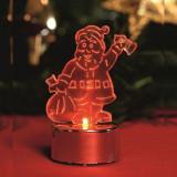Decor candela in forma de Mos Craciun, LED rosu, inaltime 8.5 cm, Home