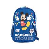 Ghiozdan Mickey Mouse Happy, prescolari, albastru, Pigna