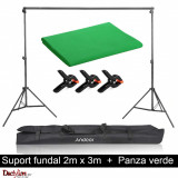 Kit suport fundal 2x3m + fundal verde