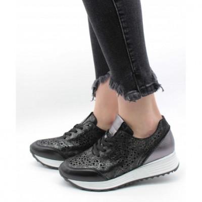 Pantofi din piele naturală Negru 39 foto