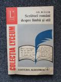 SCRIITORI ROMANI DESPRE LIMBA SI STIL - Bulgar