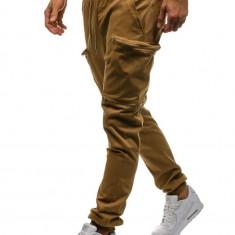 Pantaloni joggers cargo pentru bărbat camel Bolf 0475