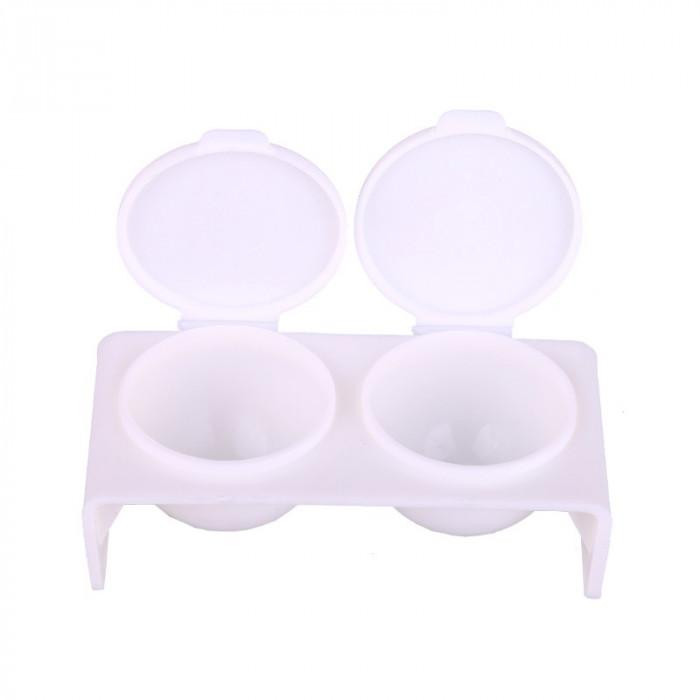 Recipient cu 2 cupe pentru vopsea si pudra, capac