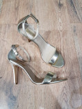REDUCERE ! Superbe sandale elegante dama noi piele naturala auriu 39