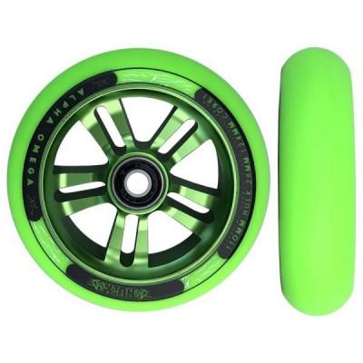 Roata Trotineta AO Hulk 110mm/28mm wide Green/Green foto
