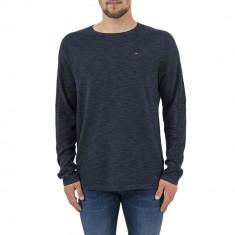Pulover Tommy Jeans Rib Black Iris-L, Bleumarin, Tommy Hilfiger