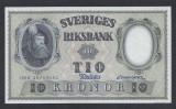 A5140 Sweden Suedia 10 kronor 1959 SEMNATURI DIFERITE UNC