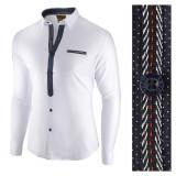 Camasa pentru barbati, alba, slim fit, casual - Leon Special, L, M, S, XL, XXL, Maneca lunga